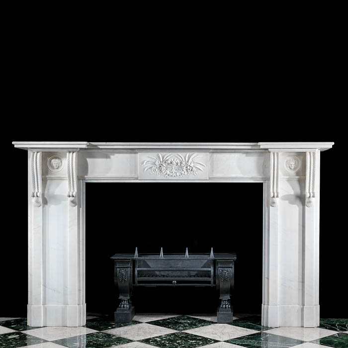 A fine 20th century Regency style fireplace mantel