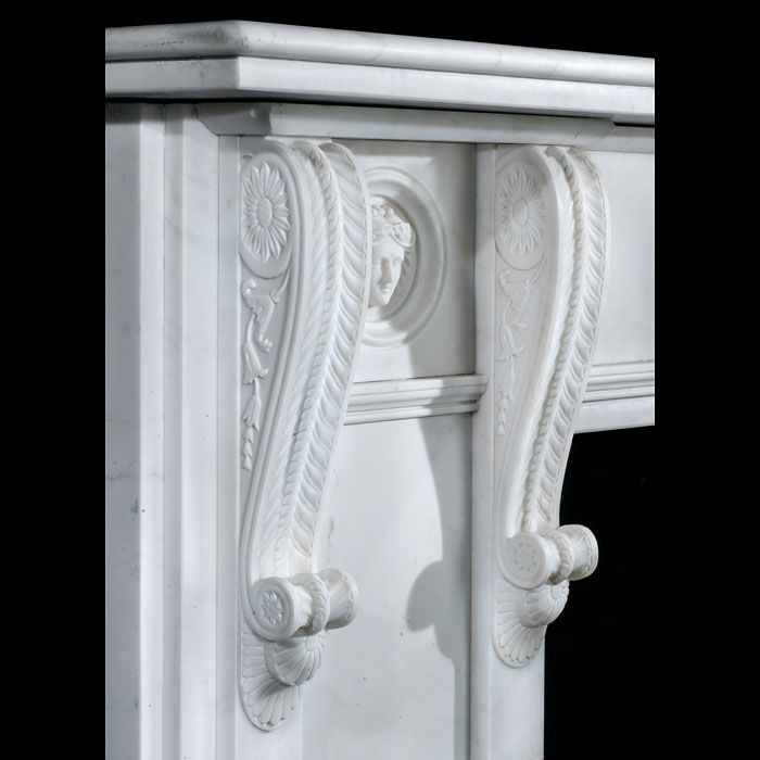 A fine Regency Revival Replica fireplace mantel