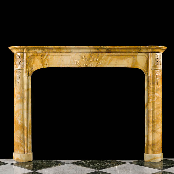 An Antique Italian Marble Fire Surround