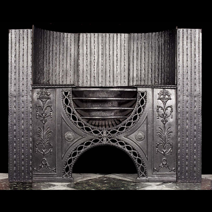 Adam style highly decorated antique Hob Grate