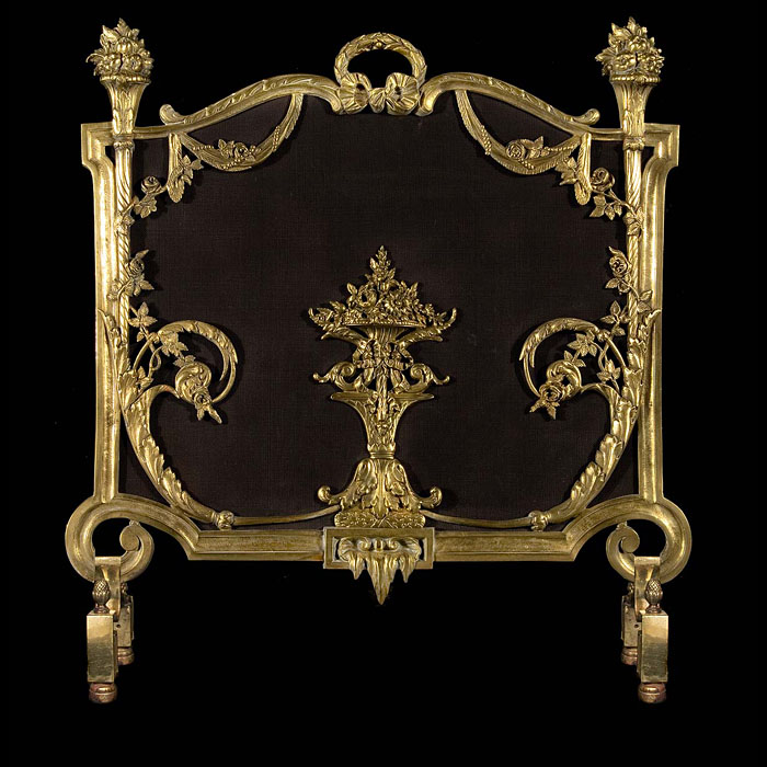 French antique fire screen