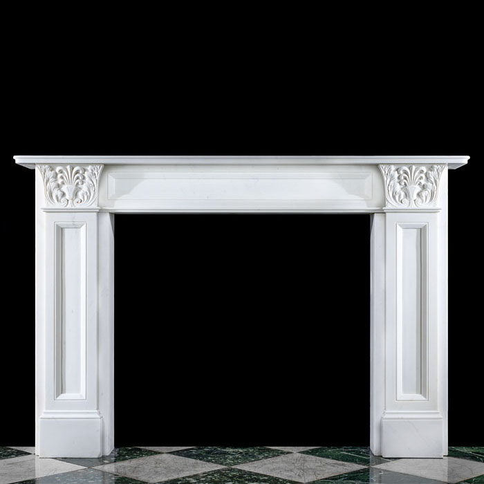 A Regency Greek Revival Marble Fireplace Mantel