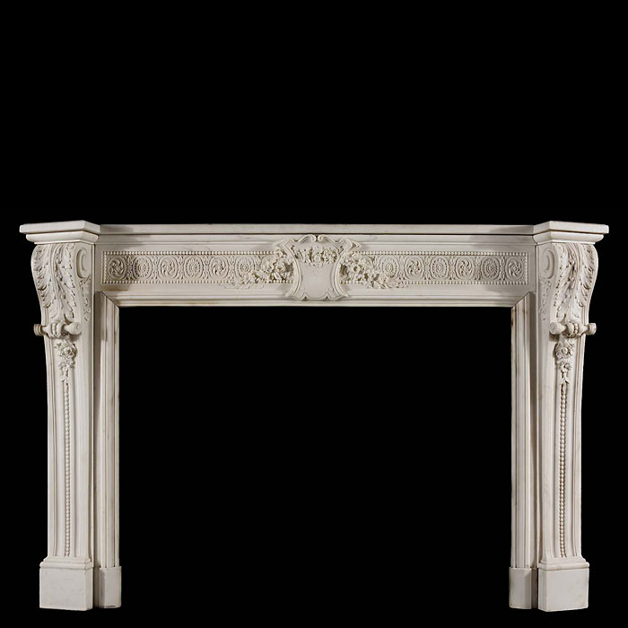 French Louis XVI Statuary Marble chimneypiece