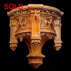 8862:  A large Neo-Gothic terracotta wall bracket.  English 19th century.