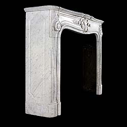 A Rococo Revival Carrara marble antique fireplace mantel
