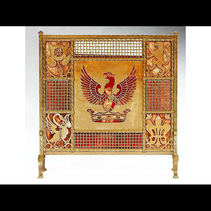 A fine antique Fire Screen made by Liberty of London