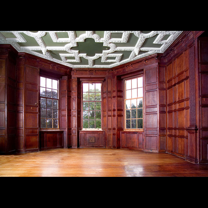 Jacobean Revival oak panelled room