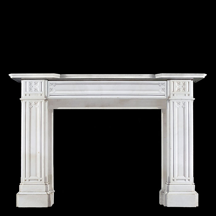 Antique English Regency Marble Chimneypiece in a Gothic Revival style