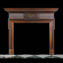 Large Georgian Style Mahogany Chimneypiece