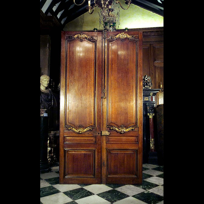 Pair large antique Louis XV oak doors