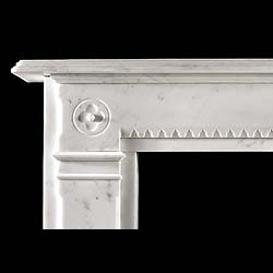 An antique Victorian Arts & Crafts marble fireplace
