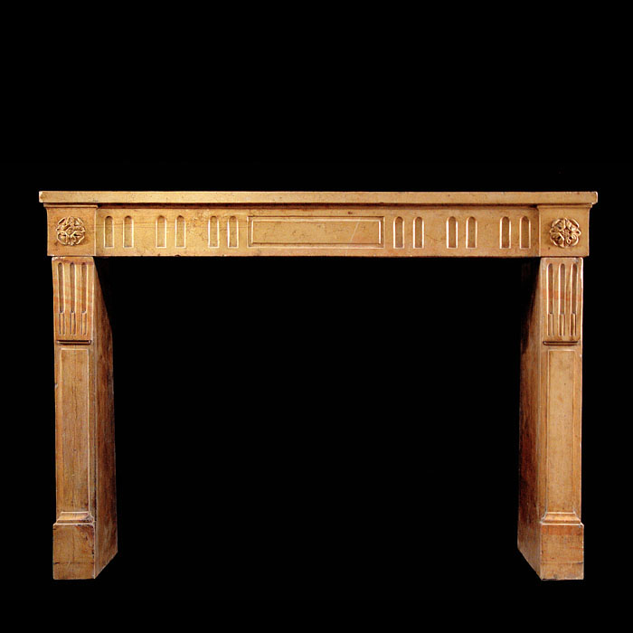An Antique Louis XVI Pierre de Bourgogne Marble Chimneypiece Mantel