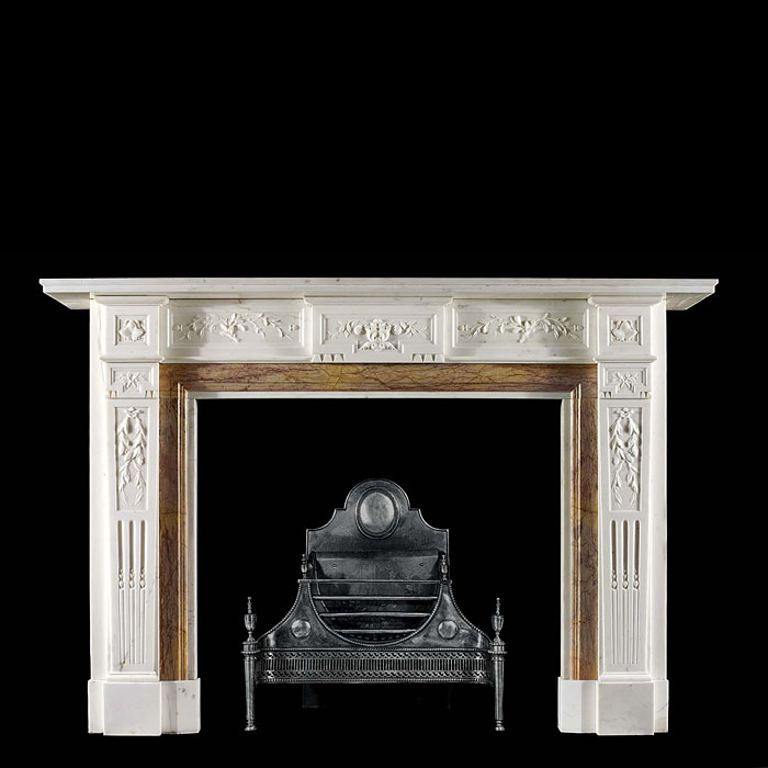 Statuary Marble Neo Classical antique marble fireplace