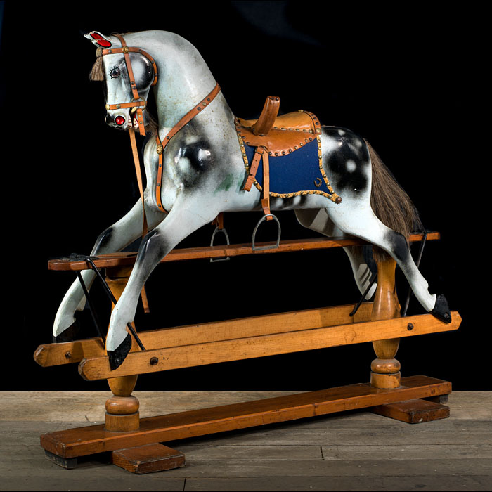 A fully restored Victorian rocking horse