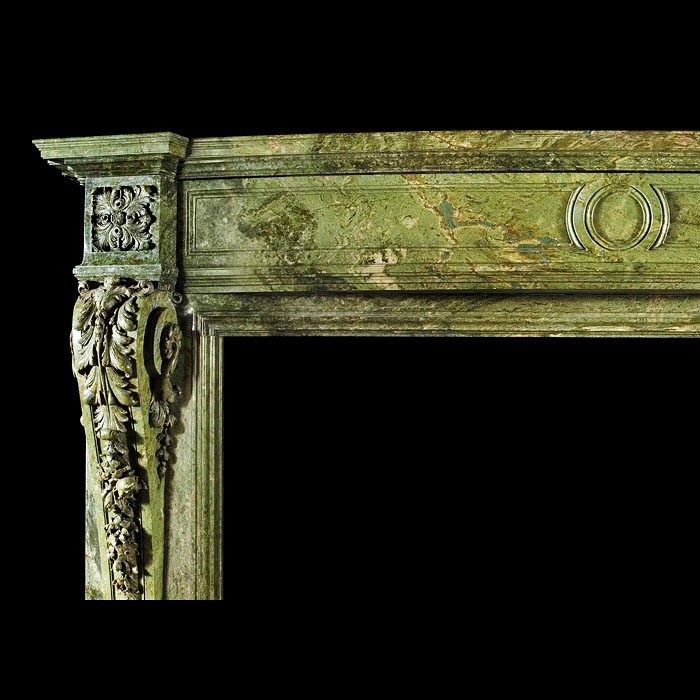 An Irish Palladian style antique marble fireplace surround