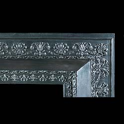 An Antique cast iron Regency Palmette Fireplace Insert