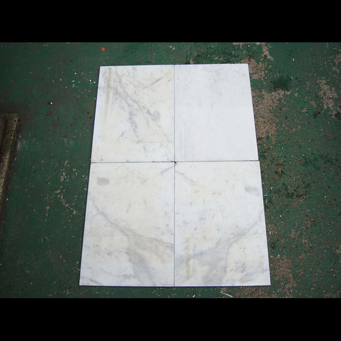 9426: A quantity of large white, veined Pencil Statuary marble tiles.  Link to: Antique fountains, sculptures, garden furniture and statuary