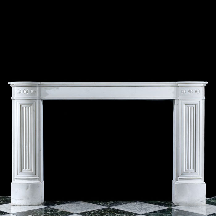 A Regency Statuary Marble Chimneypiece
