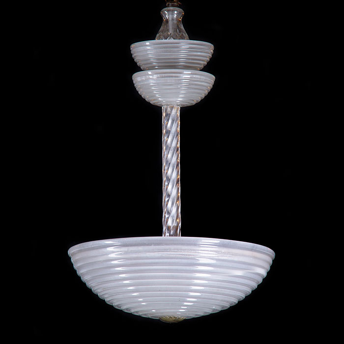A large Art Deco Ceiling Light
