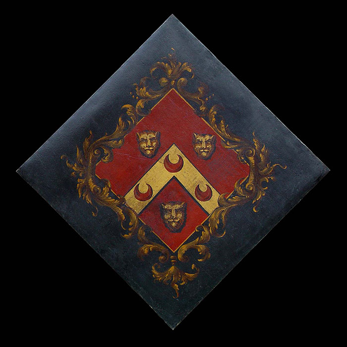 An Armorial Oil on Canvas Heraldic Hatchment