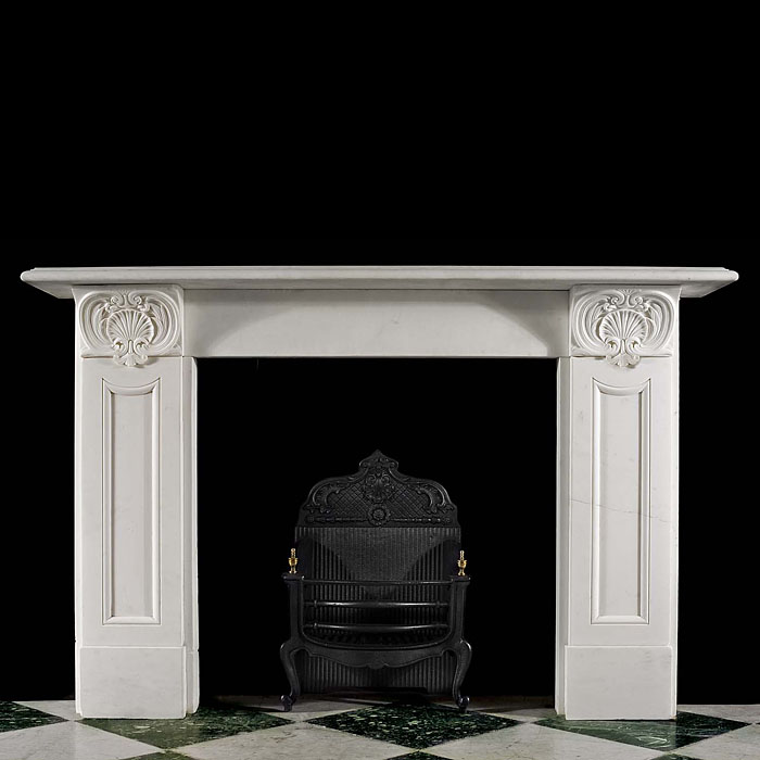 Victorian Regency fireplace in white Statuary marble