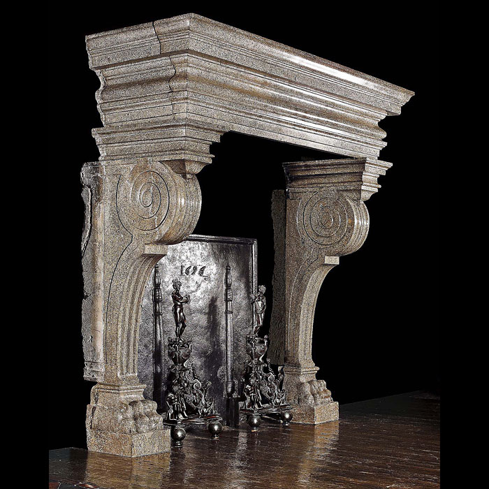 A 16th century Italian Renaissance fireplace surround