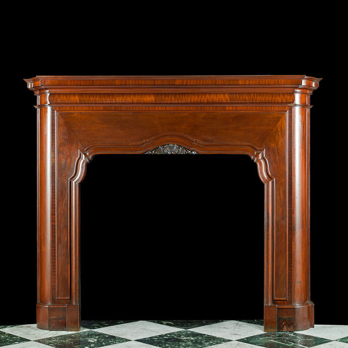 An Art Deco Mahogany Fireplace Surround