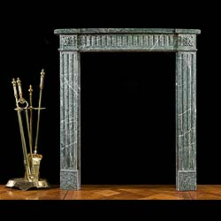 A Light Green Campan Marble Louis XVI Antique Fireplace