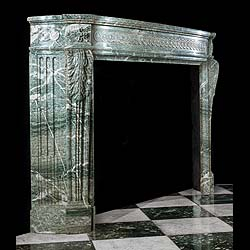 A Green Campan Marble Louis XVI Fireplace