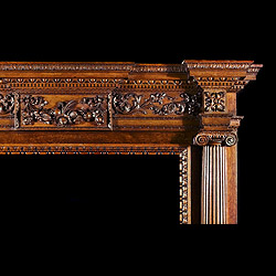 Fine large English Oak Georgian Style Fireplace Mantel