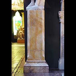 Tall square Georgian style marble pedestal