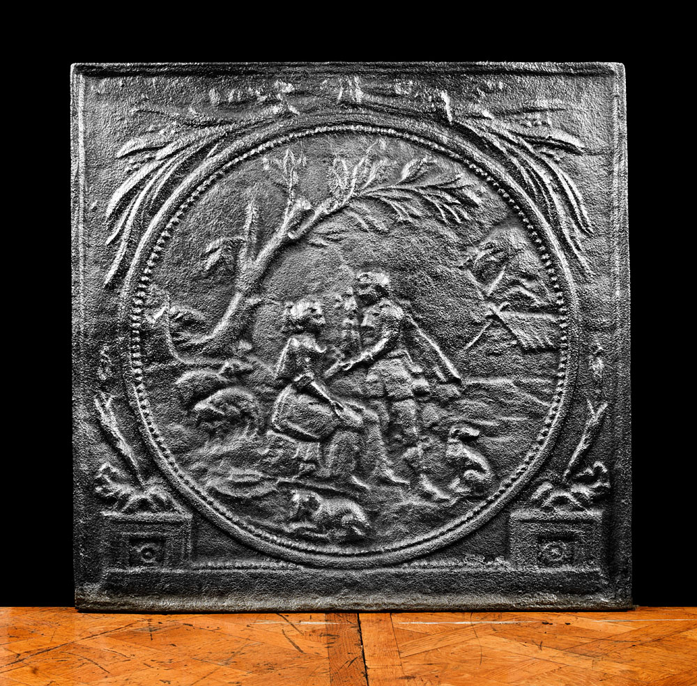 Neoclassical Large Antique Fireback