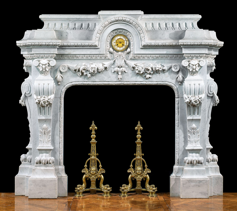 Baroque French Marble Fireplace Mantel Westland London