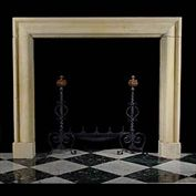 11582: A LARGE VICTORIAN LIMESTONE BOLECTION fireplace mantel in the Baroque manner. Circa 1890.  Link to: Antique Baroque Chimneypieces inc English, Italian, French, Flemish Bolection fireplace mantels.