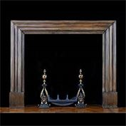 12470: Antique large Bolection Fireplace in Tulip Wood, in the Art Deco manner. English, mid 20th century.  Link to: Antique Baroque Chimneypieces inc English, Italian, French, Flemish Bolection fireplace ma