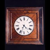 4091: French mahogany wall clock by Bonniere a Clermont.19th century, circa 1880.
