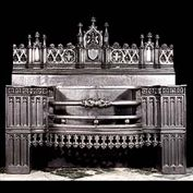 8013:  A very large Neo-Gothic hob grate in the manner of A.W.N. Pugin.  An exact replica of the original in our possession.  Link to: Antique Hobgrates