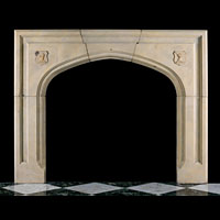 Gothic Revival Stone Fireplace Surround | Westland Antiques