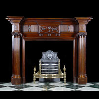 Adam Revival Style Mahogany Antique Wood Fireplace | Westland