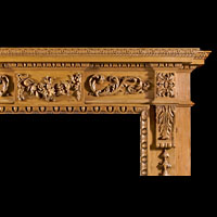 Carved Wood Neo Classical Fireplace | Westland Antiques