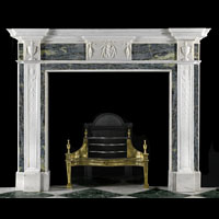 Georgian Green And White Marble Fireplace | Westland Antiques