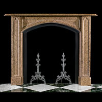 Gothic Revival Fossil Marble Fireplace | Westland Antiques
