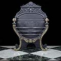 Rococo Brass Cast Iron Victorian Fire Basket | Westland London