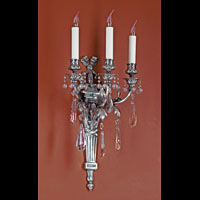 Pair French Silver Antique Wall Lights | Westland London