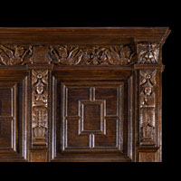 Large English Oak Jacobean Antique Fireplace | Westland London