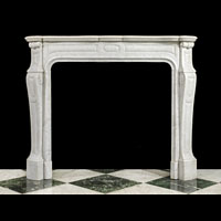 French Rococo Antique Marble Fireplace | Westland London