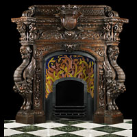 Mannerist Pine Wood Antique Fireplace | Westland Antiques