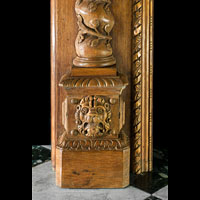 Large Carved Oak Renaissance Fireplace Mantel | Westland