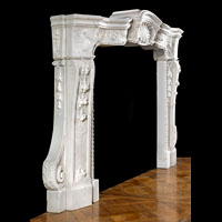 Italian Baroque White Marble Fireplace | Westland London