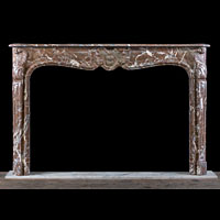 Rococo Red Marble Antique Fireplace | Westland Antiques